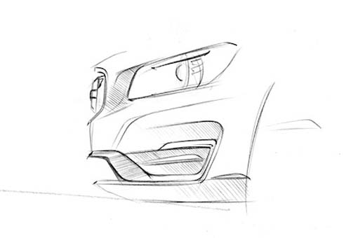 2014 volvo s60 design study sketch by peter reuterberg